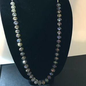 Stunning Loft beaded necklace with ribbon tie